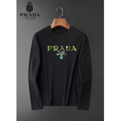 Prada T-Shirts Long Sleeved O-Neck For Men #826356 $34.00 USD, Wholesale Replica Prada T-Shirts