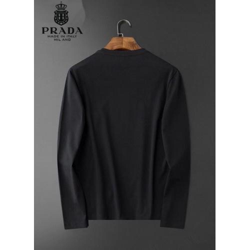 Replica Prada T-Shirts Long Sleeved O-Neck For Men #826356 $34.00 USD for Wholesale