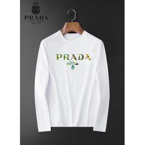 Prada T-Shirts Long Sleeved O-Neck For Men #826357