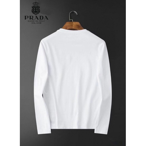 Replica Prada T-Shirts Long Sleeved O-Neck For Men #826357 $34.00 USD for Wholesale