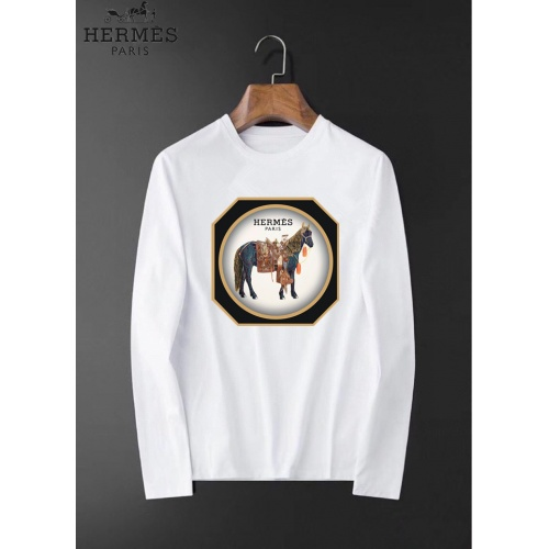 Hermes T-Shirts Long Sleeved O-Neck For Men #826366 $34.00 USD, Wholesale Replica Hermes T-Shirts