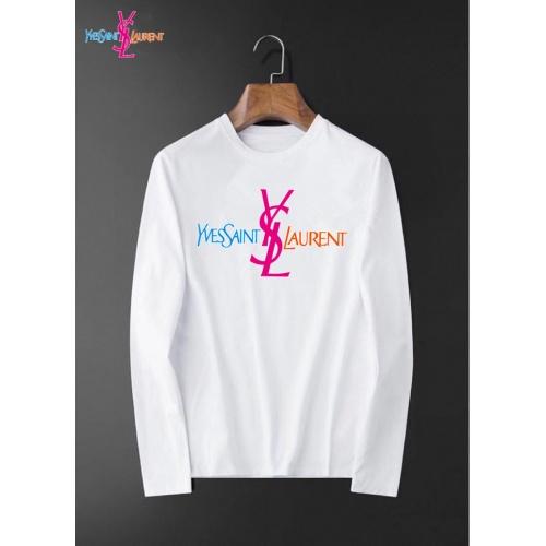 Yves Saint Laurent YSL T-shirts Long Sleeved O-Neck For Men #826370