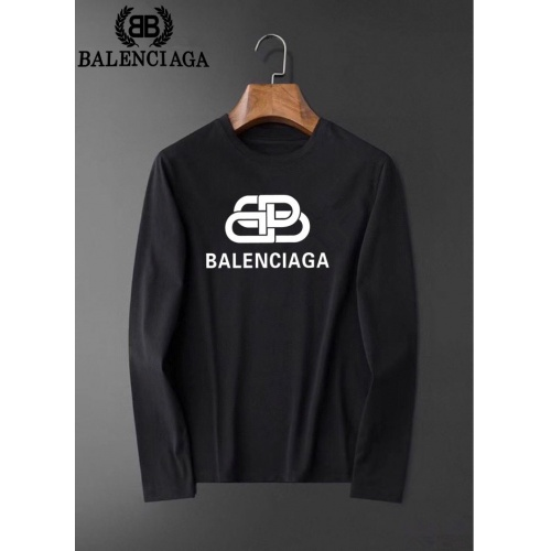 Balenciaga T-Shirts Long Sleeved O-Neck For Men #826381 $34.00, Wholesale Replica Balenciaga T-Shirts