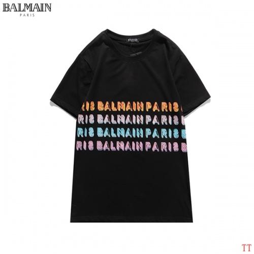 Balmain T-Shirts Short Sleeved O-Neck For Men #826562 $27.00 USD, Wholesale Replica Balmain T-Shirts