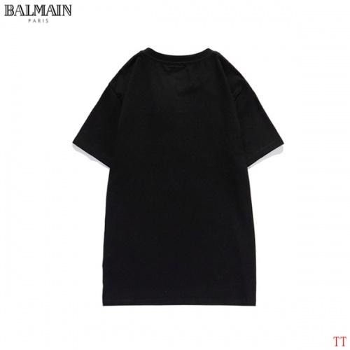 Replica Balmain T-Shirts Short Sleeved O-Neck For Men #826562 $27.00 USD for Wholesale