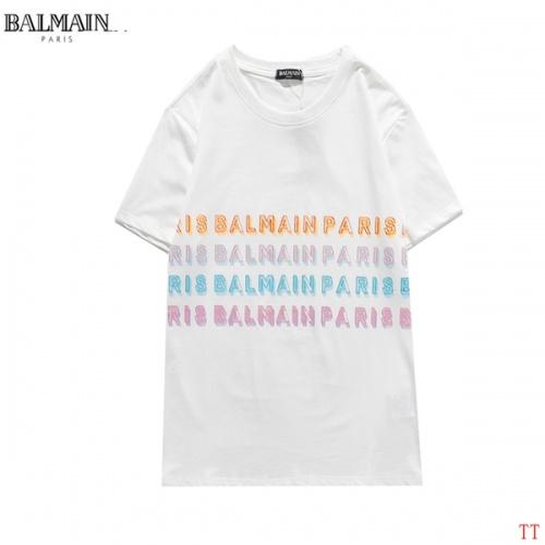 Balmain T-Shirts Short Sleeved O-Neck For Men #826563 $27.00, Wholesale Replica Balmain T-Shirts