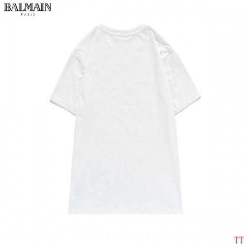 Replica Balmain T-Shirts Short Sleeved O-Neck For Men #826563 $27.00 USD for Wholesale