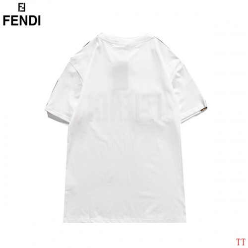Replica Fendi T-Shirts Short Sleeved O-Neck For Men #826573 $29.00 USD for Wholesale