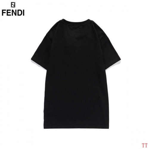 Replica Fendi T-Shirts Short Sleeved O-Neck For Men #826574 $29.00 USD for Wholesale
