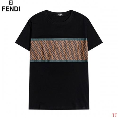 Fendi T-Shirts Short Sleeved O-Neck For Men #826575 $27.00, Wholesale Replica Fendi T-Shirts