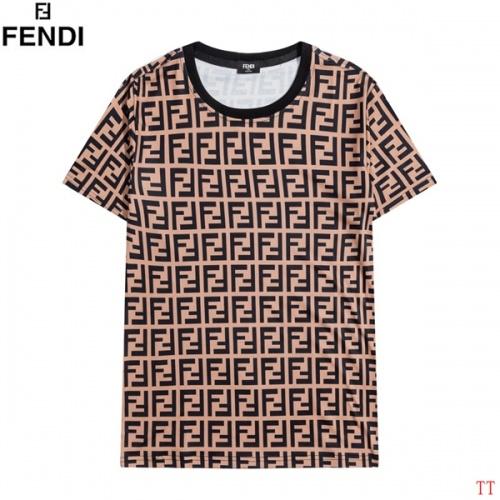 Fendi T-Shirts Short Sleeved O-Neck For Men #826581 $27.00, Wholesale Replica Fendi T-Shirts