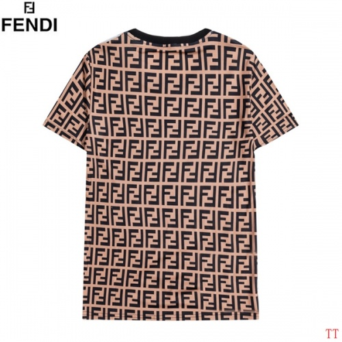 Replica Fendi T-Shirts Short Sleeved O-Neck For Men #826581 $27.00 USD for Wholesale