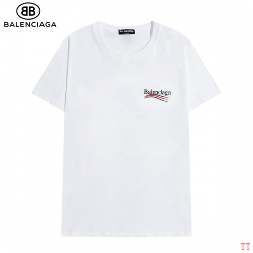Replica Balenciaga T-Shirts Short Sleeved O-Neck For Men #826622 $27.00 USD for Wholesale