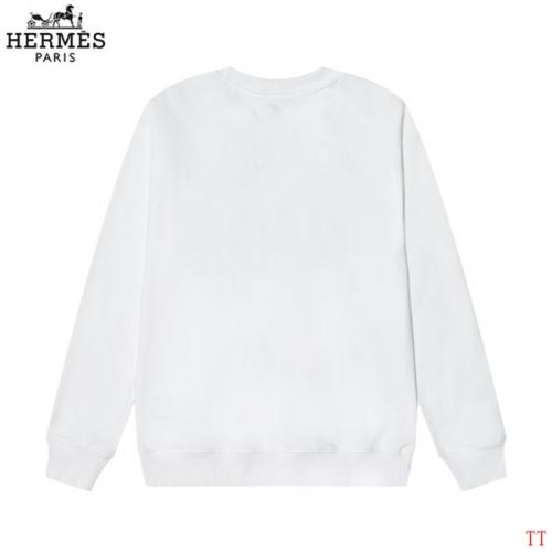 Replica Hermes Hoodies Long Sleeved O-Neck For Men #826636 $39.00 USD for Wholesale