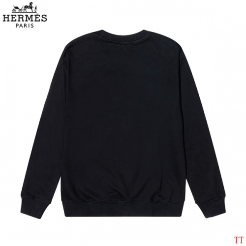 Replica Hermes Hoodies Long Sleeved O-Neck For Men #826637 $39.00 USD for Wholesale