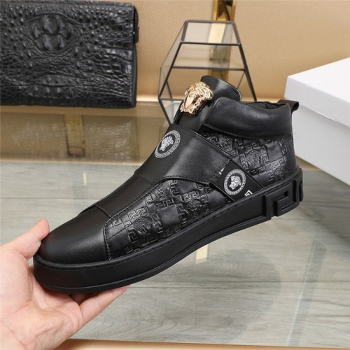 Replica Versace High Tops Shoes For Men #826690 $85.00 USD for Wholesale