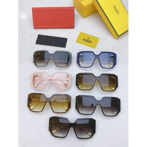 Replica Fendi AAA Quality Sunglasses #826848 $56.00 USD for Wholesale