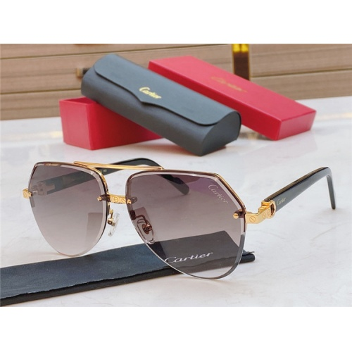 Cartier AAA Quality Sunglasses #826871 $45.00, Wholesale Replica Cartier Super AAA Sunglasses