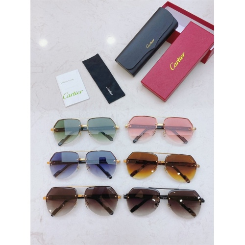 Replica Cartier AAA Quality Sunglasses #826871 $45.00 USD for Wholesale