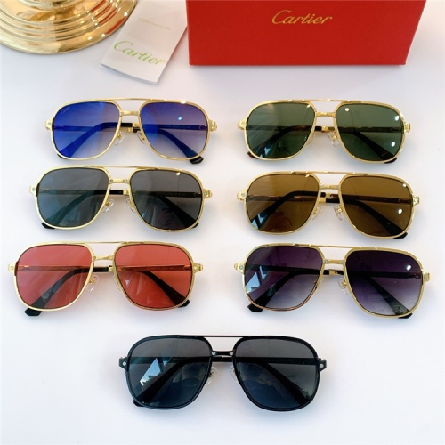 Replica Cartier AAA Quality Sunglasses #826879 $46.00 USD for Wholesale