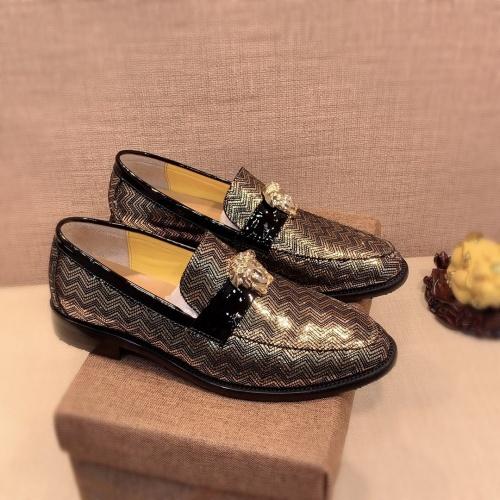 Versace Leather Shoes For Men #826947 $80.00 USD, Wholesale Replica Versace Leather Shoes