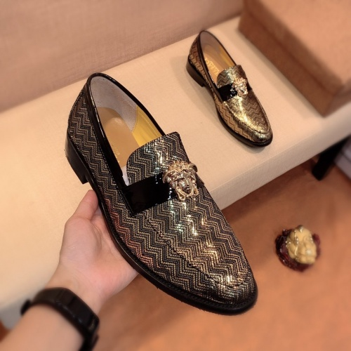 Replica Versace Leather Shoes For Men #826947 $80.00 USD for Wholesale