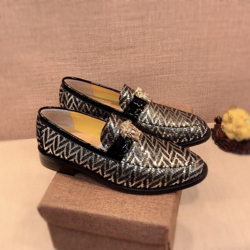 Versace Leather Shoes For Men #826948