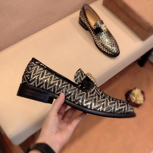 Replica Versace Leather Shoes For Men #826948 $80.00 USD for Wholesale