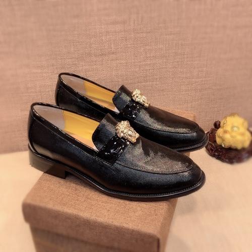 Versace Leather Shoes For Men #826949 $80.00 USD, Wholesale Replica Versace Leather Shoes
