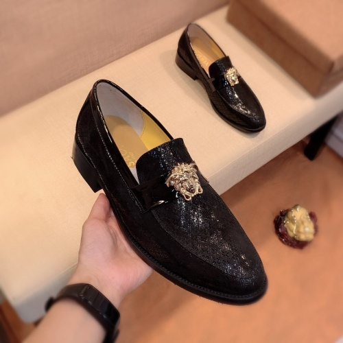 Replica Versace Leather Shoes For Men #826950 $80.00 USD for Wholesale
