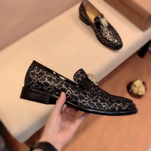 Replica Versace Leather Shoes For Men #826951 $80.00 USD for Wholesale