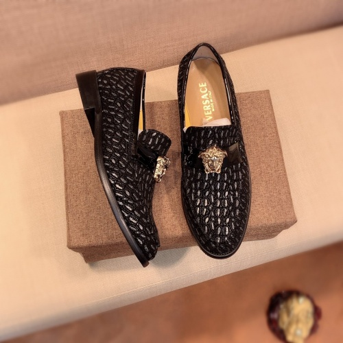 Replica Versace Leather Shoes For Men #826952 $80.00 USD for Wholesale