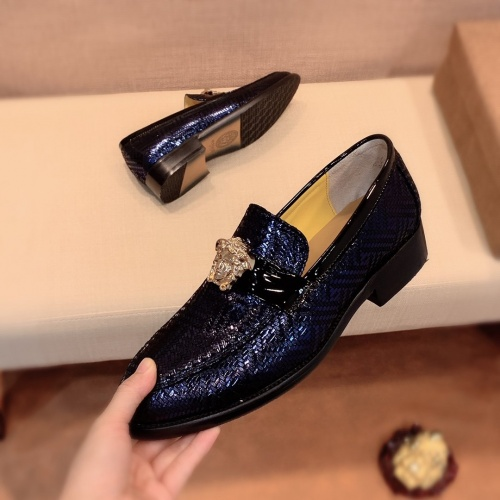 Replica Versace Leather Shoes For Men #826953 $80.00 USD for Wholesale