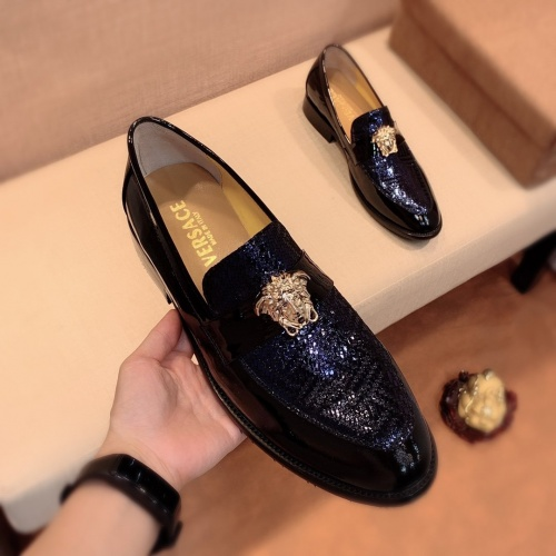 Replica Versace Leather Shoes For Men #826954 $80.00 USD for Wholesale