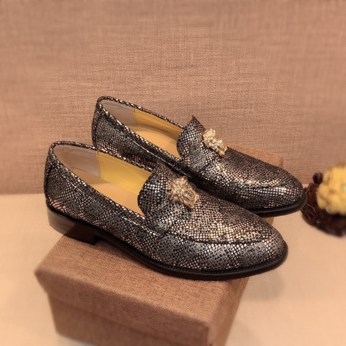 Versace Leather Shoes For Men #826955