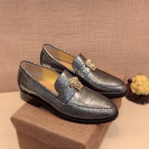Versace Leather Shoes For Men #826956 $80.00 USD, Wholesale Replica Versace Leather Shoes