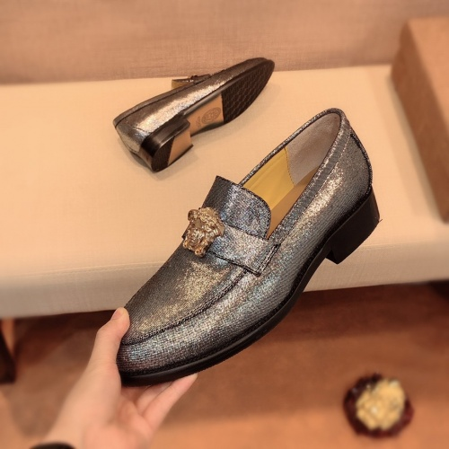 Replica Versace Leather Shoes For Men #826956 $80.00 USD for Wholesale