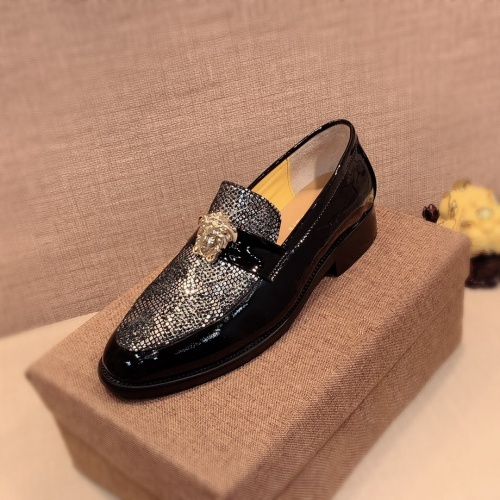 Replica Versace Leather Shoes For Men #826957 $80.00 USD for Wholesale