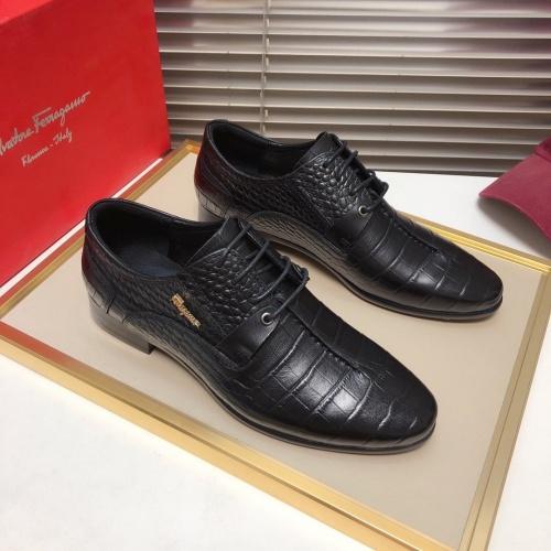 Ferragamo Salvatore FS Leather Shoes For Men #827030