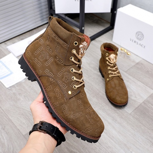 Replica Versace Boots For Men #827044 $98.00 USD for Wholesale