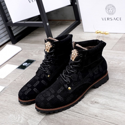 Versace Boots For Men #827045 $98.00 USD, Wholesale Replica Versace Boots