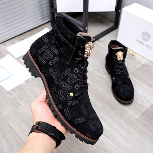 Replica Versace Boots For Men #827045 $98.00 USD for Wholesale