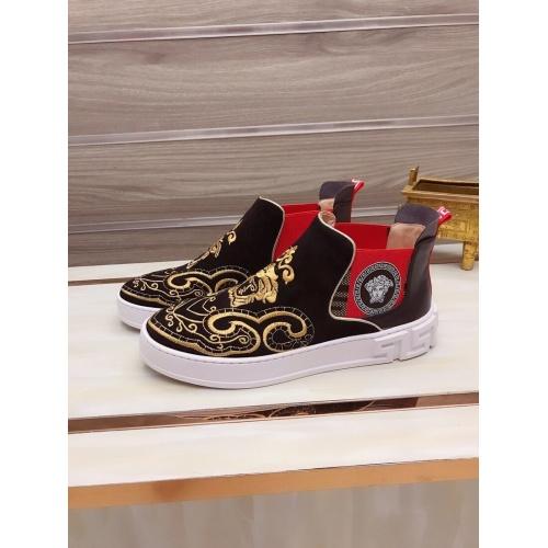 Versace High Tops Shoes For Men #827067 $85.00 USD, Wholesale Replica Versace High Tops Shoes