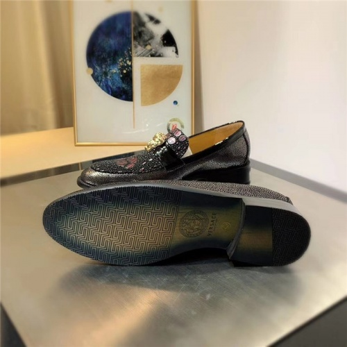 Replica Versace Leather Shoes For Men #827393 $80.00 USD for Wholesale