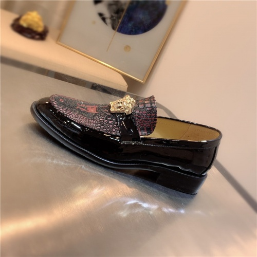 Replica Versace Leather Shoes For Men #827406 $80.00 USD for Wholesale