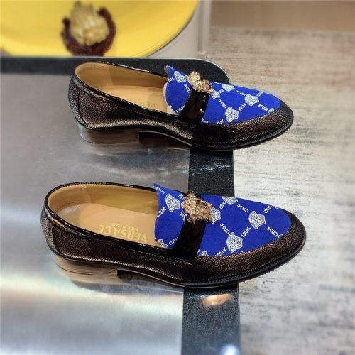 Versace Leather Shoes For Men #827408 $80.00 USD, Wholesale Replica Versace Leather Shoes