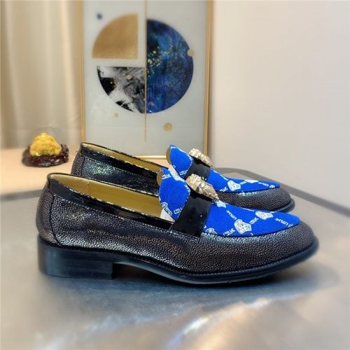 Replica Versace Leather Shoes For Men #827408 $80.00 USD for Wholesale