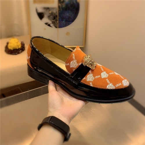 Replica Versace Leather Shoes For Men #827409 $80.00 USD for Wholesale