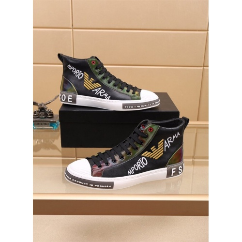 Armani High Tops Shoes For Men #827774