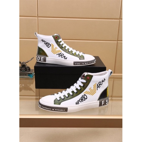Armani High Tops Shoes For Men #827775
